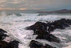 morze burzowy zdjęcia stock