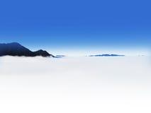 Morze chmury i góry Fotografia Stock