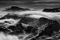 Morze chmury w dolomitach, Włochy, Europa obraz stock