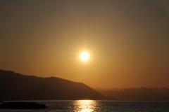 Morze Cortez zmierzch, Zdjęcie Stock