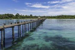Morze drewniany most Zdjęcie Stock