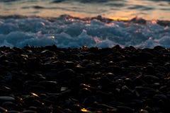 Morze dryluje otoczaki Obrazy Royalty Free