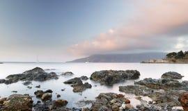 Morze Dryluje st zmierzch - Elba wyspa Zdjęcia Stock