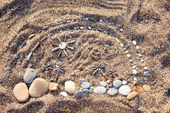 Morze dryluje tło Fotografia Stock