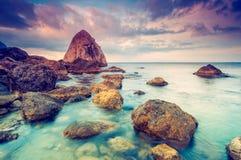 morze dryluje zmierzch Fotografia Royalty Free