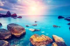 morze dryluje zmierzch Obrazy Royalty Free