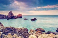 morze dryluje zmierzch Zdjęcie Royalty Free