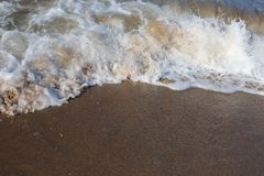 Morze fala na brzeg obraz royalty free