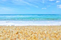 Morze fala na piasku Obrazy Stock