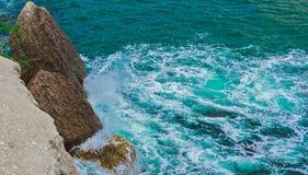 Morze fala, piana Zdjęcie Royalty Free