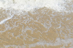 Morze fala przy morzem w lecie Zdjęcie Royalty Free