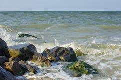 Morze fala przy morzem w lecie Zdjęcia Stock