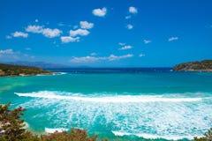 Morze fala w błękitnej lagunie Obraz Royalty Free