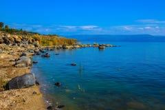 Morze Galilee w Izrael Zdjęcia Royalty Free