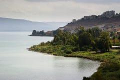 Morze Galilee widok Obrazy Stock