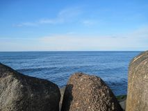 Morze granica na kasztelu Obraz Royalty Free