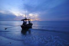 Morze i łódź Fotografia Royalty Free