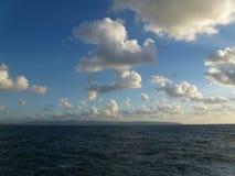 Morze i cloudscape Zdjęcie Stock