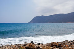 Morze i góry w Cypr Fotografia Stock