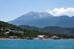 On morze i góry w Turcja Obrazy Royalty Free