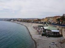 Morze i miasto Fotografia Stock