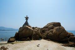 Morze i pagoda Zdjęcia Royalty Free