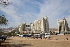 Morze i plaża, hotele Zdjęcia Stock