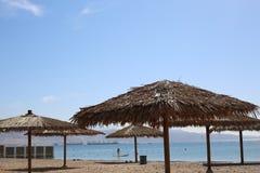 Morze i plaża, hotele Obraz Stock