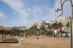 Morze i plaża, hotele Obrazy Stock