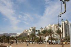 Morze i plaża, hotele Obrazy Royalty Free