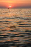 Morze i zmierzch Zdjęcia Stock