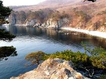 Morze Japonia, wybrzeże Daleki Wschód biosfery Morska rezerwa Obrazy Royalty Free