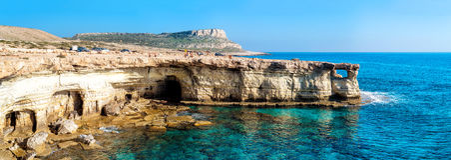 Morze jaskiniowa panorama Zdjęcia Stock