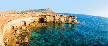 Morze jaskiniowa panorama Fotografia Stock