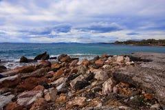 Morze kamienie Zdjęcia Royalty Free