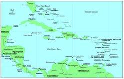 morze karaibskie Zdjęcia Stock