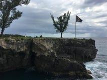 Morze Karaibskie, plaże, drzewka palmowe, słońce, Jamajka, bardzo piękni miejsca fotografia royalty free