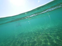 Morze Karaibskie rozłamu poziom Obrazy Stock