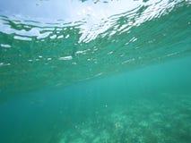 Morze Karaibskie rozłamu poziom Obraz Royalty Free