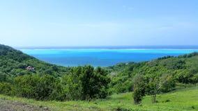 Morze Karaibskie widok od góry w opatrzności wyspie w Kolumbia fotografia stock