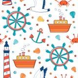Morze kolorowy wzór ilustracja wektor