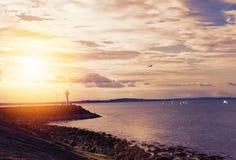 Morze krajobraz fotografia royalty free