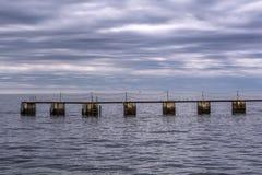 Morze krajobraz, Tramonto sul klacz Obrazy Royalty Free