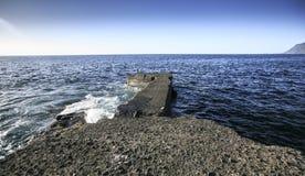 Morze krajobraz w Tenerife wyspa kanaryjska Tenerife Zdjęcie Stock