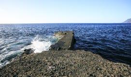 Morze krajobraz w Tenerife wyspa kanaryjska Tenerife Fotografia Stock