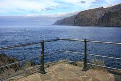 Morze krajobraz w Tenerife wyspa kanaryjska Tenerife długo ekspozycji Zdjęcia Stock