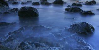 Morze krajobraz w Tenerife wyspa kanaryjska Tenerife długo ekspozycji Obrazy Stock