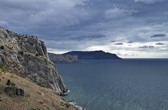 Morze krajobraz z chmurami. Obrazy Stock