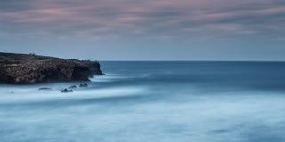 Morze krajobrazowa panorama. W burzy. Obrazy Stock