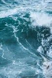 Morze macha podczas burzy obrazy royalty free